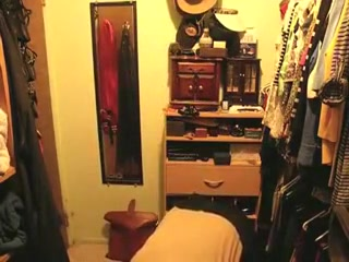 Amateur Asian granny closet cam
