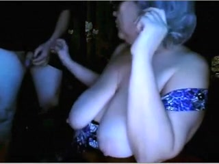 Russian granny flashing giant bazookas n engulfing spouse  cam