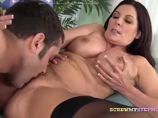 Stepmom Sharon Fucked in Stockings