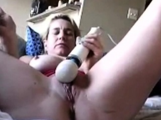 Mature Woman masturbate on chair
