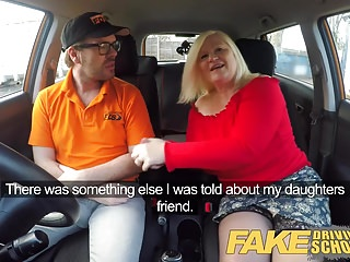 Fake Driving School Busty mature MILF fucks instructor