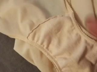Stroking with mummy in law undies