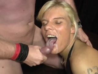 Two slutty moms getting group fucked in a gang bang orgy