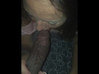 Bitch asked to suck my dick while her boy friend was down stairs sleep.