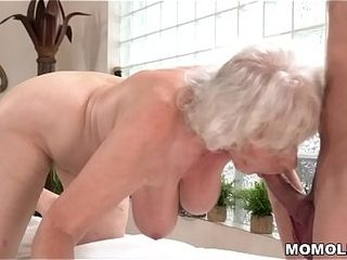 Elderly matriarch Norma enjoys sexual intercourse check a investigate palpate