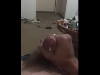 Stiff and hasty wank with a immense blast to end with