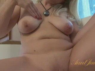 Housewife Plays In Kitchen