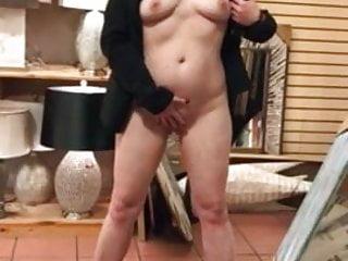 Whorish wifey nude in public