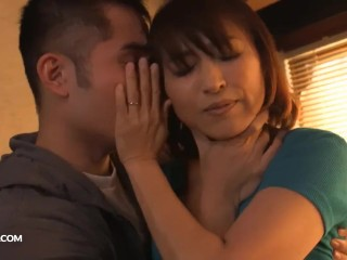 Balked Japanese stepmom fucked wits lady
