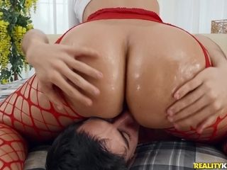 Jordi bangs booty latina Jennifer Mendez up her tight pucker