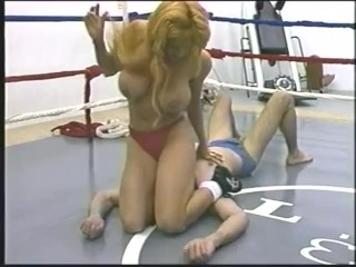 Fat titty Mixed wrestling
