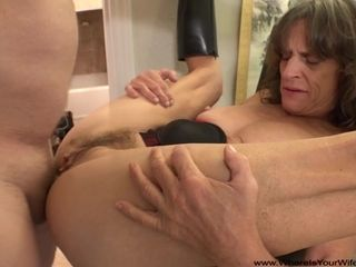 Disconsolate Granny Gets tochis Fucked ANAL self-pollution