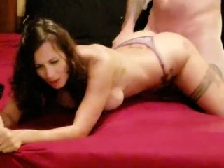 G-string Panty pound - cool cougar internal ejaculation - Lydia Luxy