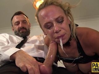 Mature subordinated mommy spit gargle