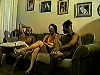 Interracial threesome double penetration