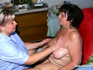 Granny Gets will not hear of chubby Pussy Massaged