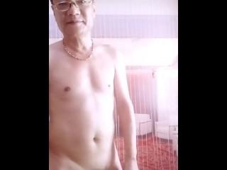 Aged alms-man undress sparking