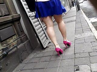 Cougar blue mini-skirt