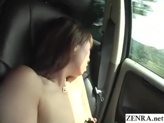 Cuckold JAV wifey saggy fun bags truck getting off Subtitled