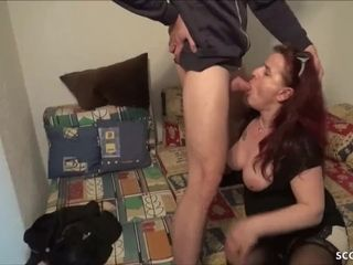 GERMAN mom tempt her STEP-SON to boink her when daddy Away