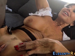 Euro mademoiselle gets cum drenched