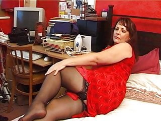 Super-naughty mature in corselette