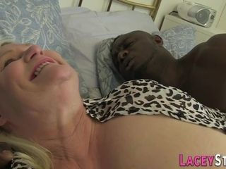 Lacy starlet mischievous GILF multiracial pornography vid