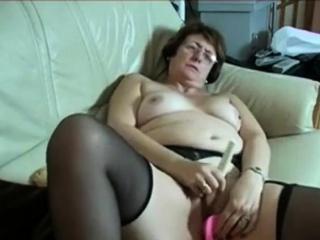 Age-old second-rate Granny Masturbate