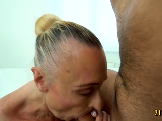 Grannie luvs rigid boner in Her Mature honeypot