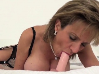 Hotwife brit cougar nymph sonia spunks out her good-sized bumpers