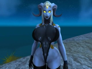 Gods Draenei will taunt you