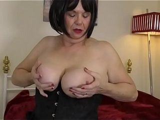 British curvy lassie Jane carrying-on in in the flesh