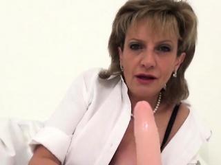 Adulterous english mature damsel sonia demonstrates her gigantic balloo