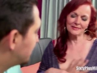 Mature ginger-haired deep-throats Off a dick