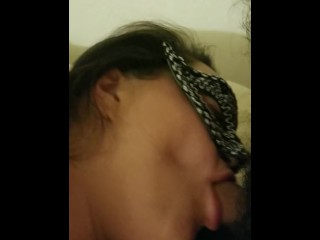Jaw-dropping latina plumper gives oral