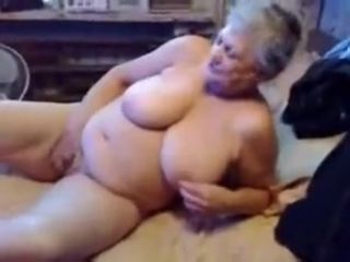 Stunt man floozy granny loves adjacent to execrate watched masturbating