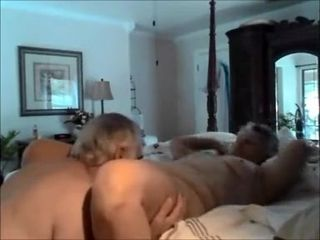 Gramps on viagra eats grannys cunt and enters it