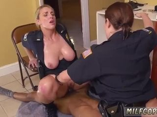 Messy harry cougar dark-hued masculine squatting in home gets our mom officers