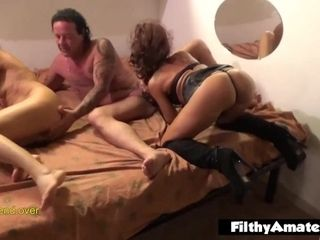 Fucky-fucky porn video with 2 Italian wifey
