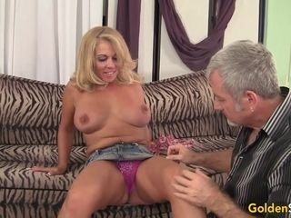 Torrid to Trot Mature platinum-blonde Crystal Taylor bj's salami and Gets penetrated