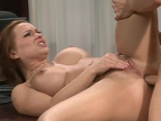 Hard-core ass-fuck zeal with a fabulous ginormous breast assistant. Total vid.