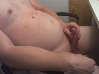 Jacking-off my closely-knit penis together with putting an end to an scale (with milovana)