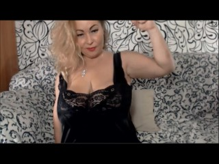 Standoffish MILF flexes their way biceps overhead cam