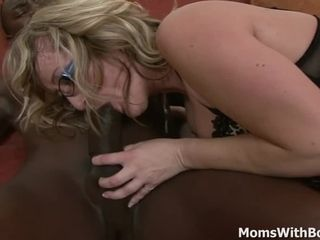 Ash-blonde grandmother Aja smashes good-sized dark-hued penis