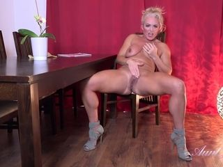 Hot Auntie Rebecca Enjoys Solo Fingering