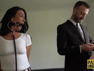 Bound Submissive Mommy Gets Fingered