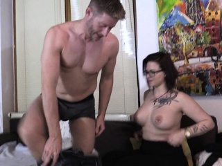 Sexy amateur mature couple having fun