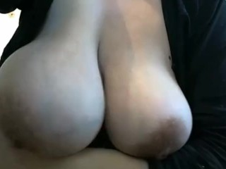 Unstinted festoon lactating breasts squeezed of milk