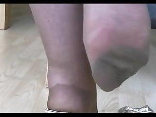 Bbw piedi velati e zoccoletti