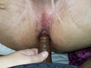 Sonnie GETS CAUGHT USING big black cock THEN GETS PEGGED FOR THE 1ST TIME (CUMSHOT)